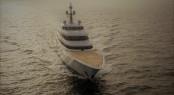 Superyacht Vertigo during her sea trials - copyright feadship