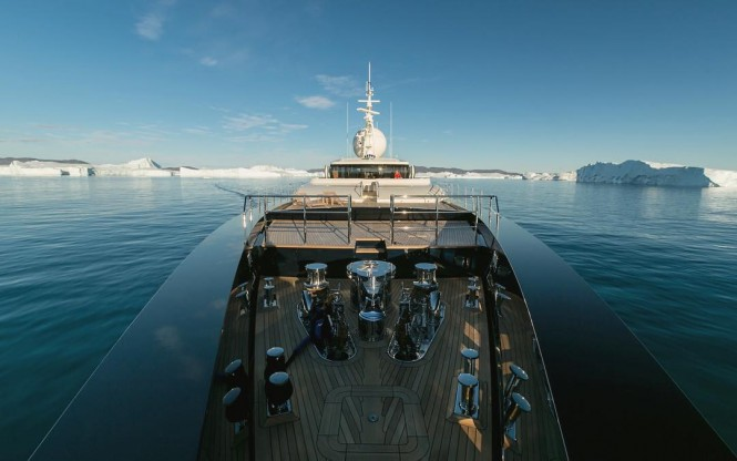 Private Yacht Galileo G at Disko Bays largest Glacier - photo by Simon McNeish