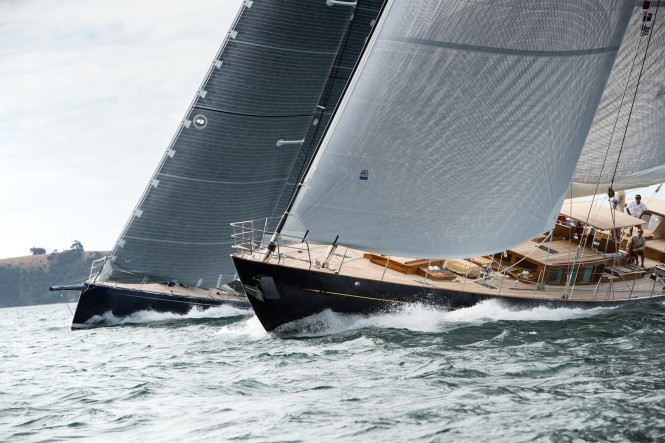 Stunning yachts on the run. New Zealand Millennium Cup 2017