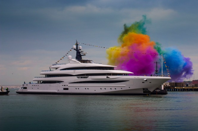 74m CLOUD 9 at her launch by CRN