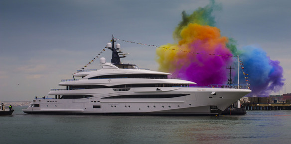 74m superyacht cloud 9 launched by CRN