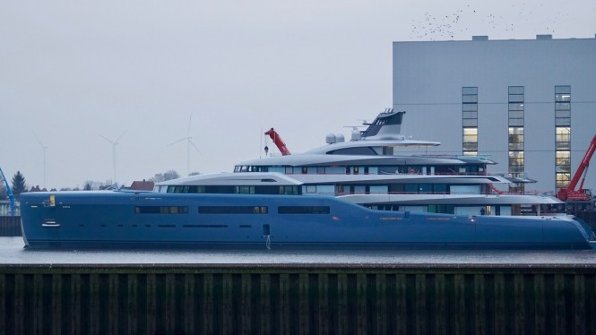 98m motor yacht Aviva profile as launched on 9 jan 2017