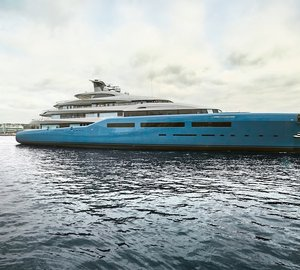 Official photos and info on the huge 98m mega yacht AVIVA released by Abeking & Rasmussen