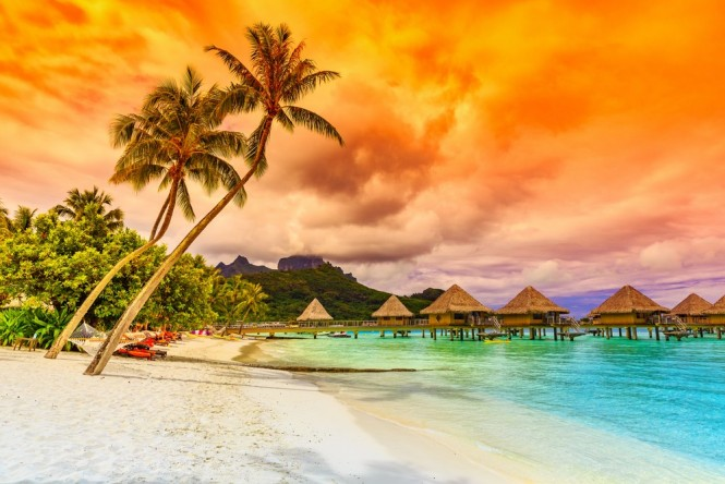 Sunset in Bora Bora