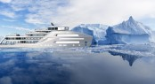 90m explorer in the icy cold waters
