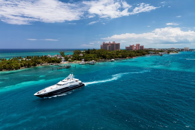 Lady L Luxury Yacht in Nassau. Photo by Alex Galiano