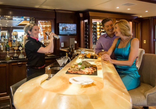 Luxury yacht BACCHUS - Wet bar and wine