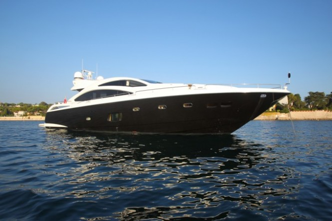 Motor Yacht FIRECRACKER. photo credit Sunseeker