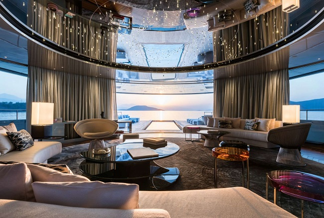 M/Y Savannah - Interior by Cristina Gherardi. Photo credit: Jeff Brown