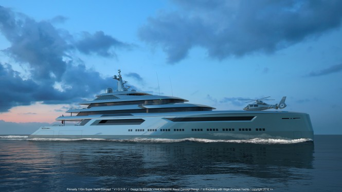110m explorer yacht concept from Virgin Concept Yachts Monaco