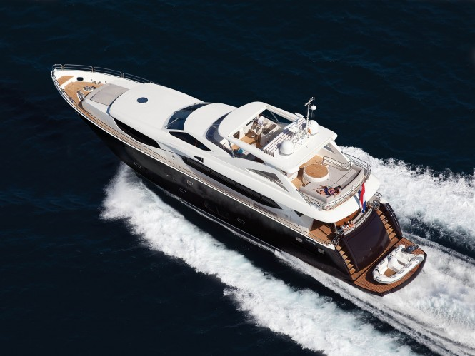 Motor yacht SIMPLE PLEASURE. Photo credit: Sunseeker Yachts