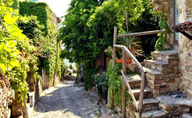 Bussana Vecchia is the renovated artist's village northeast of Sanremo