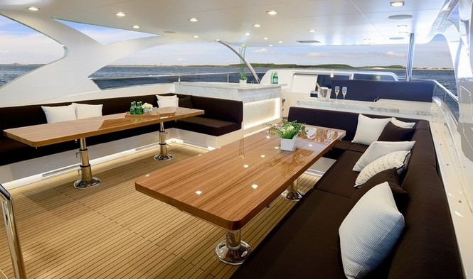 Superyacht PARADISE - External seating
