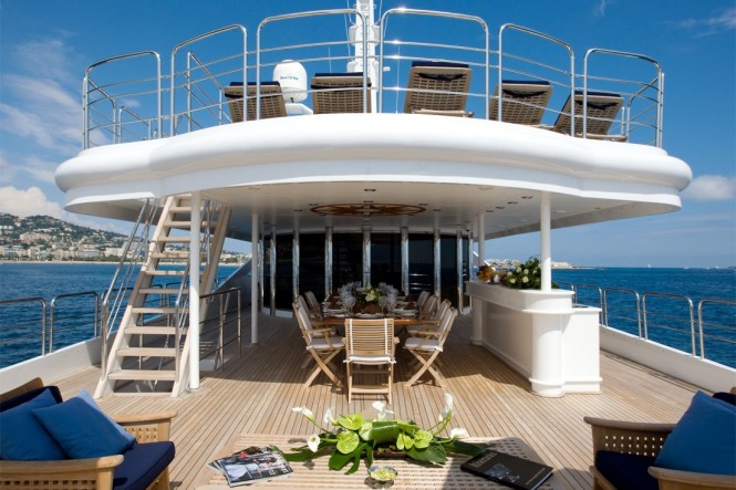 Luxury yacht INSIGNIA - Upper deck