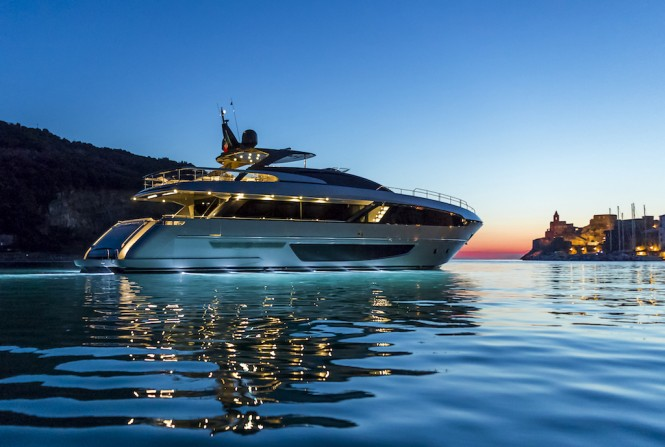 Riva 100' Corsaro - at the dawn