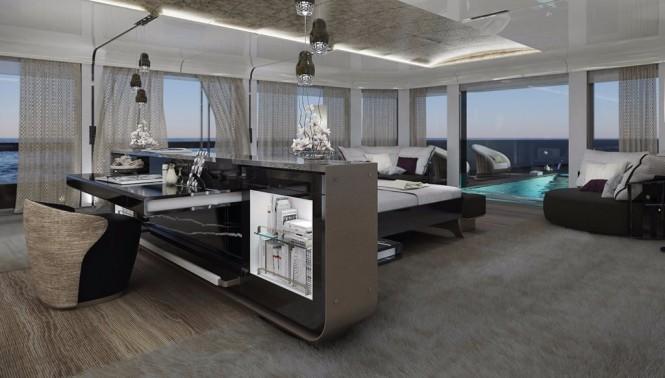 Sarp Yachts concept Aouda, interior design. Photo courtesy of Sarp Yachts