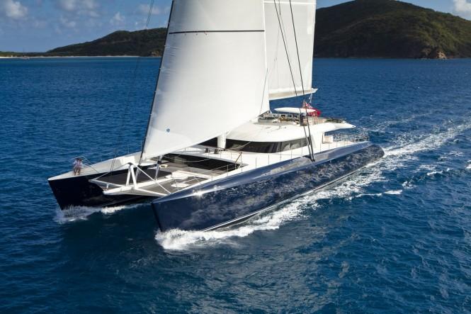 Award-winning catamaran HEMISPHERE by Pendennis Yachts Photo credit Jeff Brown. Photo credit: Jeff Brown