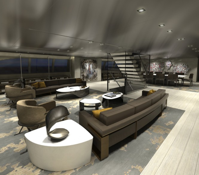 Luxury yacht SYBARIS - Main Saloon - Photo by PH Design