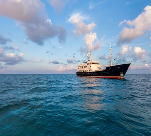 Charter expedition yacht Pioneer in Bermuda for the America's Cup