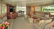 Main salon aboard motor yacht ESPRESSO
