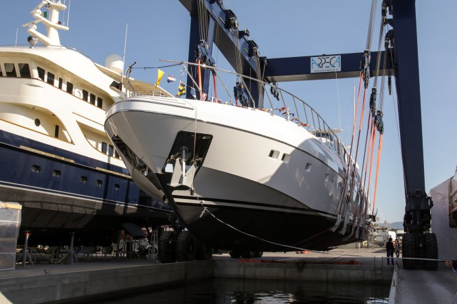 Mangusta 132.2 the launch photo credit Overmarine Group Archive: Emilio Bianchi