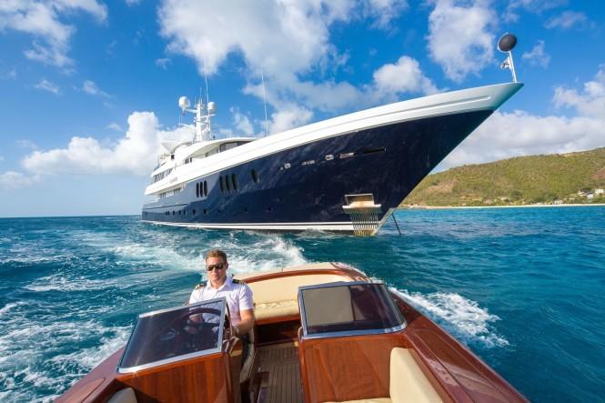 Motor Yacht Elysian (ex Elandess). Photo credit Alexis Andrews