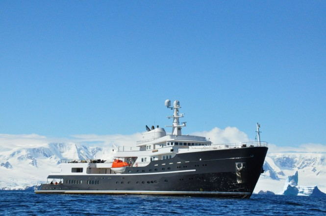 Motor yacht Legend in Antartica