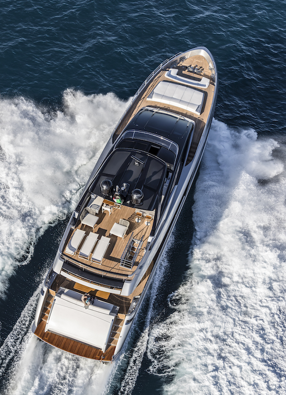 Riva 100' Corsaro - top view