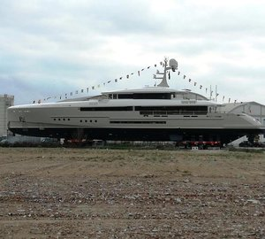 Superyacht Endeavour II is preparing for her Official Launch at Rossinavi