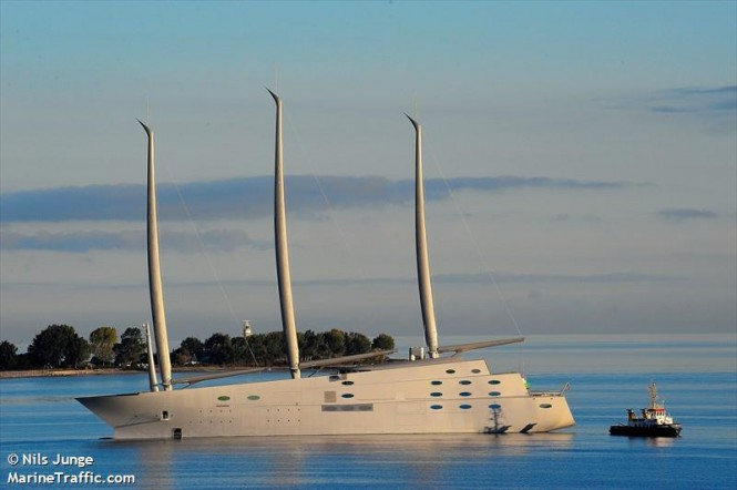 Sailing Yacht A. Photo by Nils Junge