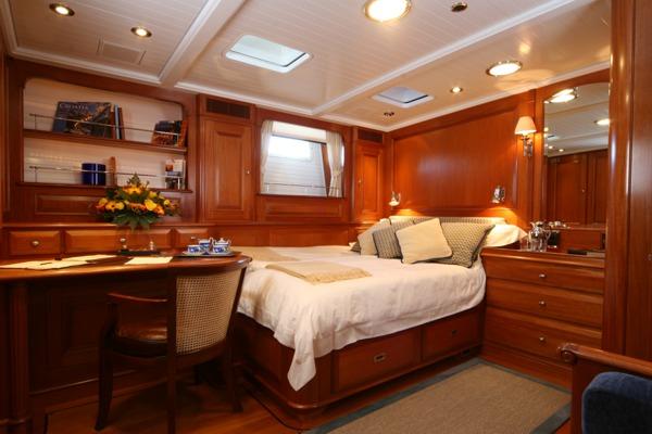 S/Y CAVALLO Master suite - Photo credit Baltic Yachts