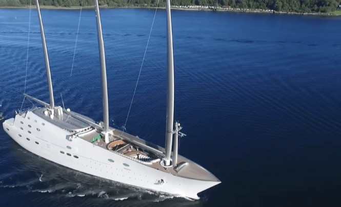 Recently Delivered Sailing Yacht A Heading To Norway