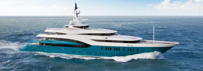 Oceanco 85.5m superyacht Sunrays. Photo courtesy of Oceanco