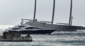 Superyacht Barbara and Sailing Yacht A in Gibraltar, photo by @Superyachts_ibraltar