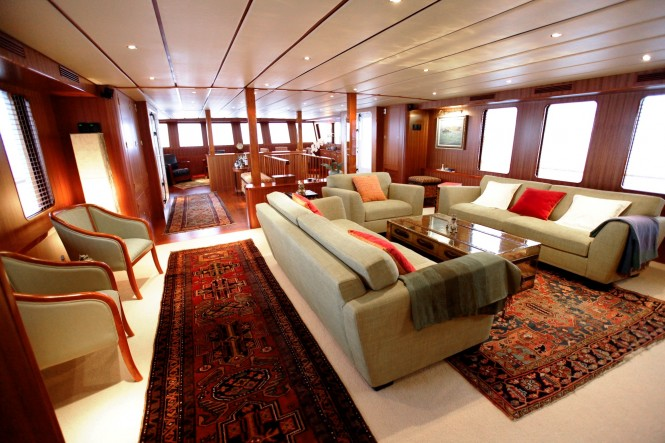 Superyacht NORTHERN SUN - Main salon to forward