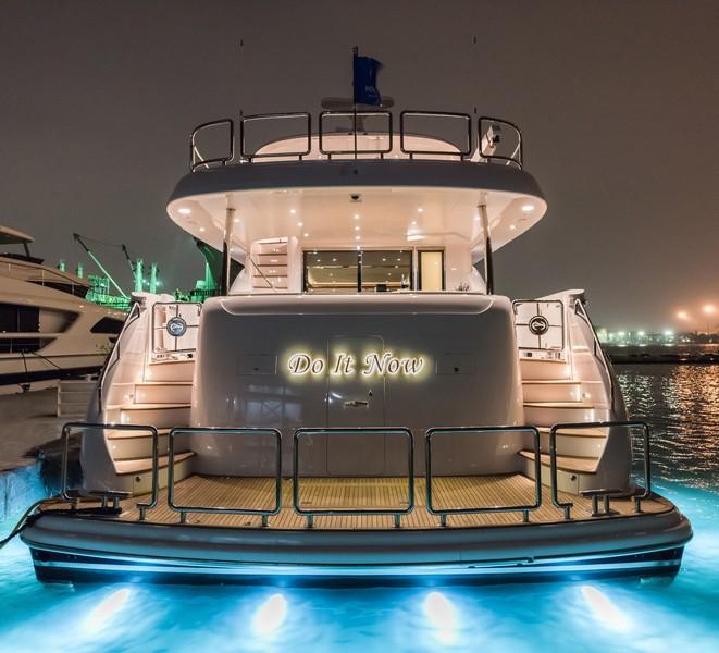 The Horizon Yacht E98 - Do It Now - transom