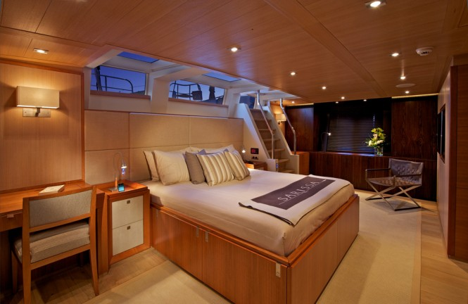 The Master suite aboard SY SARISSA