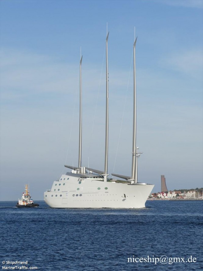 Sailing Yacht A. Photo by Shipsfriend