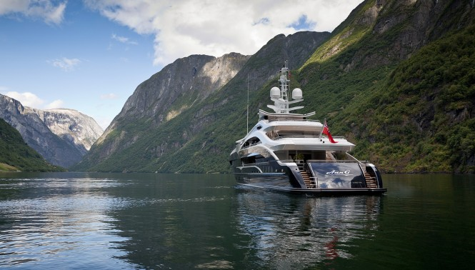 Superyacht Ann G by Heesen Yachts. Photo courtesy Jeff Brown