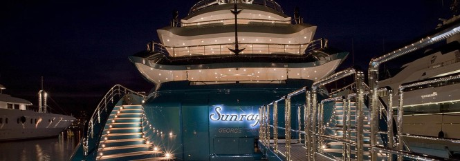 Oceanco 85.5m superyacht Sundays. Aft view.