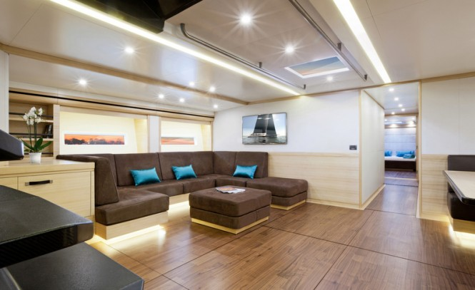 30m luxury yacht Hamilton - Salon by Adriana Monk
