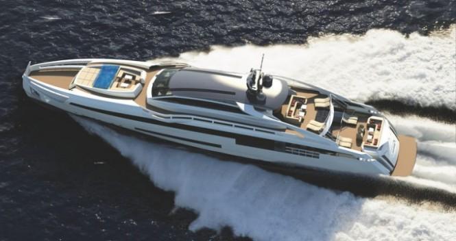 47m motor yacht AURORA by Rossinavi and Fulvio de Simoni - rendering