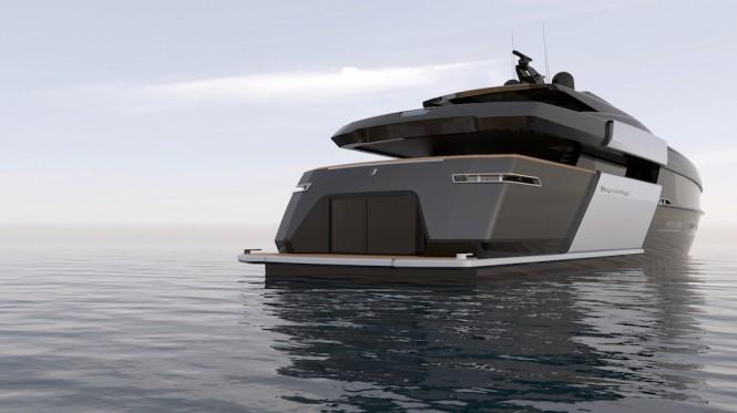 55-metre motor yacht CINQUANTACINQUE by CORGO YACHT DESIGN & MARTINEZ DESIGN - aft