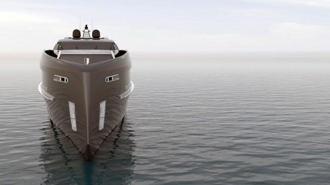 55-metre motor yacht CINQUANTACINQUE by CORGO YACHT DESIGN & MARTINEZ DESIGN - bow