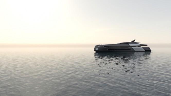 55-metre motor yacht CINQUANTACINQUE by CORGO YACHT DESIGN & MARTINEZ DESIGN - renderings