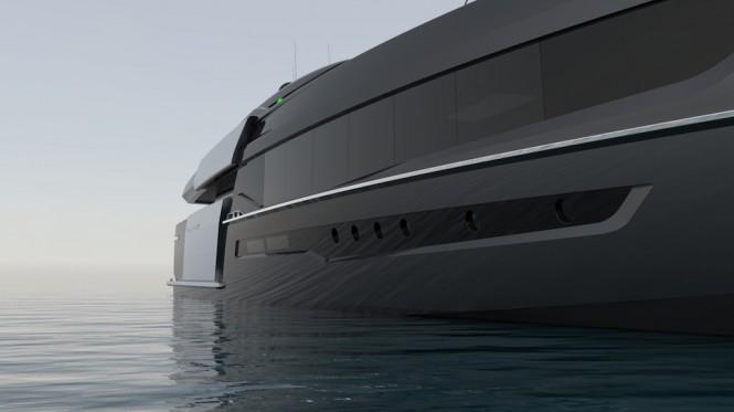 55-metre motor yacht CINQUANTACINQUE by CORGO YACHT DESIGN & MARTINEZ DESIGN - side view