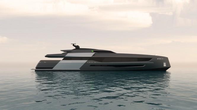 55-metre motor yacht CINQUANTACINQUE side view