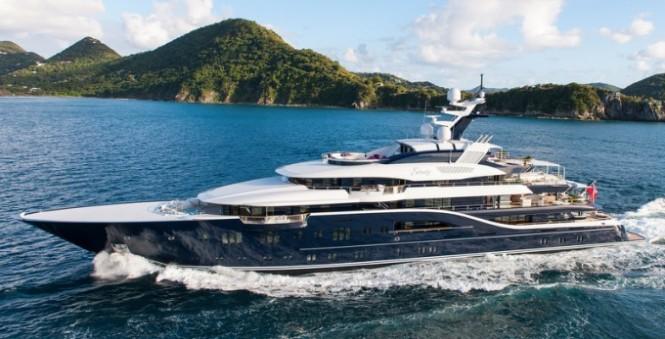 85m Lurssen mega yacht Solandge - Photo by Klaus Jordan-680