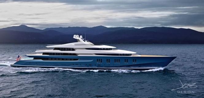 90m hybrid superyacht concept by JQB