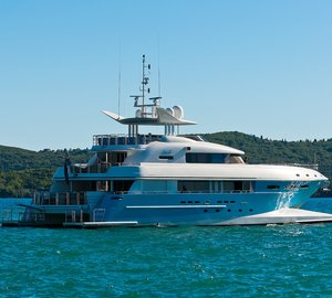 Charter Spirit, Australia's newest superyacht, at the Whitsundays and behold the Great Barrier Reef